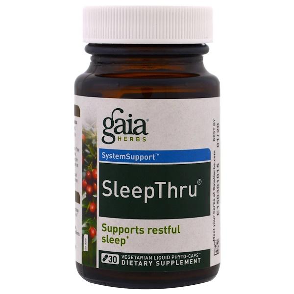 Gaia Herbs, SleepThru, 30 Vegetarian Liquid Phyto-Caps
