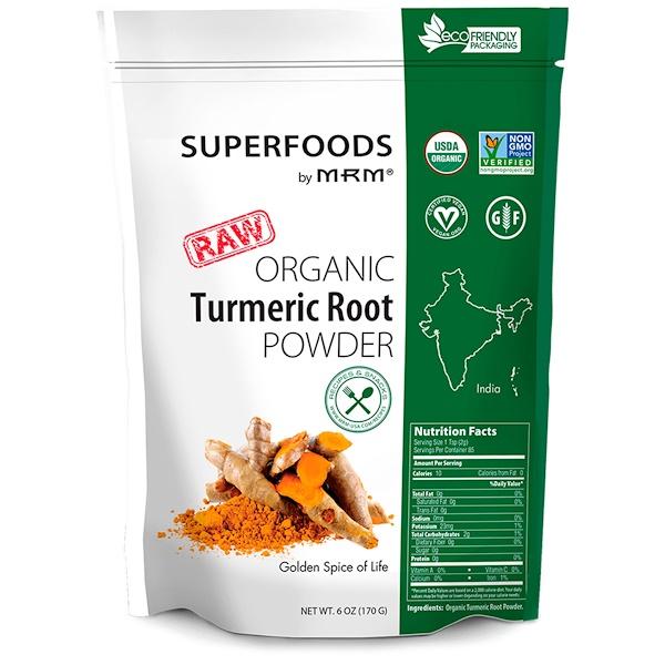MRM, Raw, Organic Turmeric Root Powder, 6 oz (170 g)
