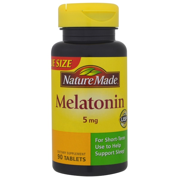 Nature Made, Melatonin, 5 mg, 90 Tablets