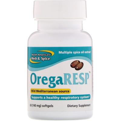 North American Herb & Spice Co., OregaResp, 140 mg, 60 Softgels