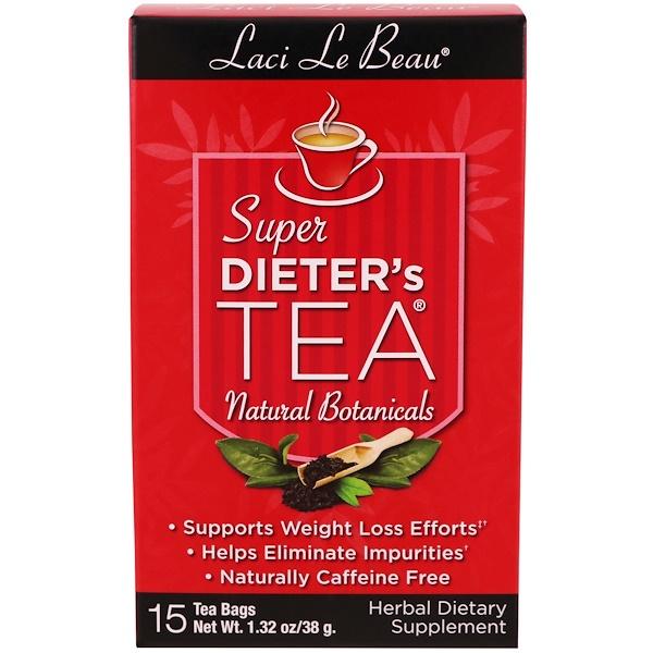 Natrol, Laci Le Beau, Super Dieter's Tea, Natural Botanicals, 15 Tea Bags, 1.32 oz (38 g)