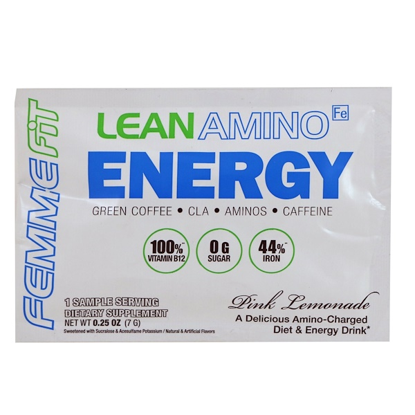 FEMME, Lean Amino Energy, Pink Lemonade, 0.25 oz (7 g)