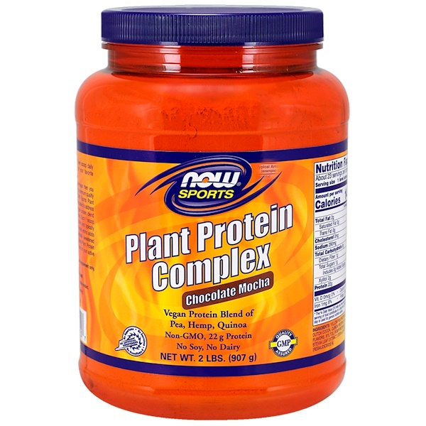 Now Foods, Plant Protein Complex, Chocolate Mocha, 2 lbs. (907 g)