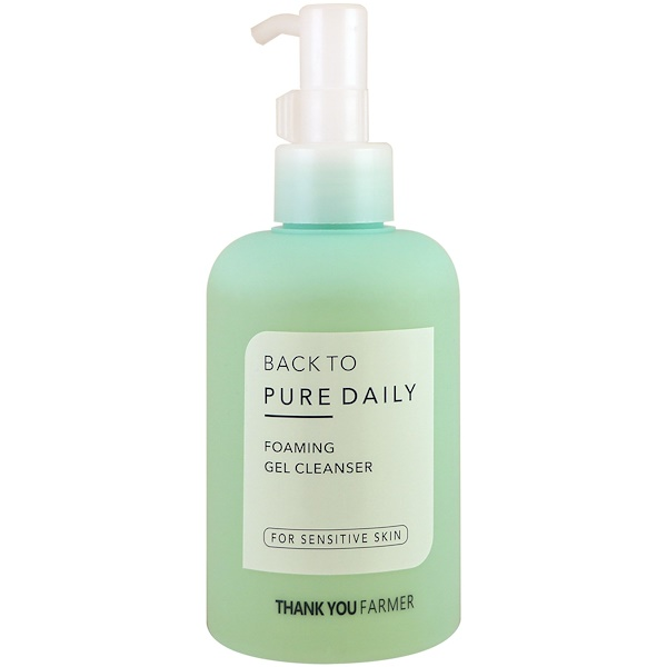 Thank You Farmer, Back to Pure Daily, Foaming Gel Cleaner, For Sensitive Skin, 7.03 fl oz (200 ml)