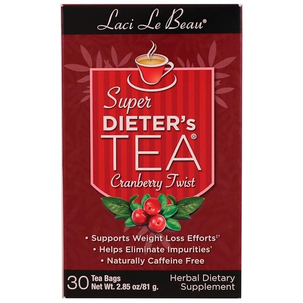 Natrol, Laci Le Beau, Super Dieter's Tea, Cranberry Twist, 30 Tea Bags, 2.85 oz (81 g)