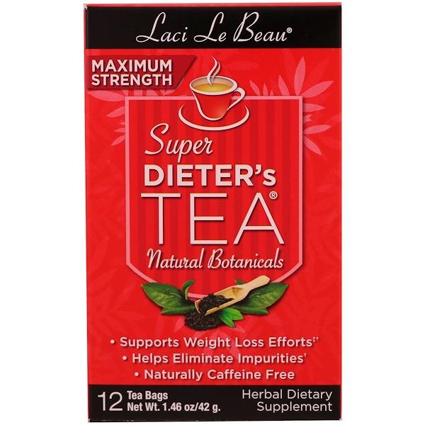 Natrol, Laci Le Beau, Super Dieter's Tea, Natural Botanicals, 12 Tea Bags, 1.46 oz (42 g)