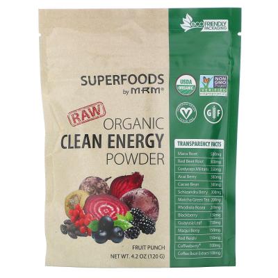 MRM, Organic Clean Energy Powder, Fruit Punch, 4.2 oz (120 g)