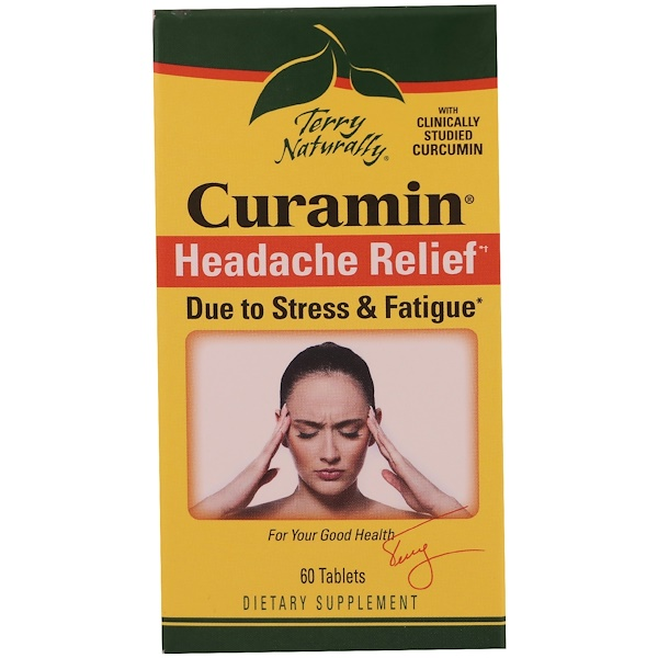 EuroPharma, Terry Naturally, Curamin, Headache Relief, 60 Tablets