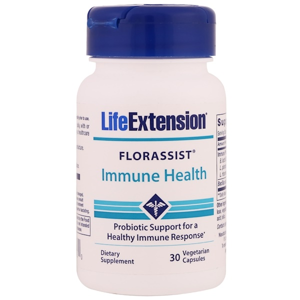 Life Extension, Florassist, Immune Health, 30 Vegetarian Capsules