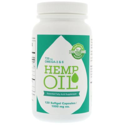 Manitoba Harvest, Hemp Oil, 1,000 mg, 120 Softgel Capsules