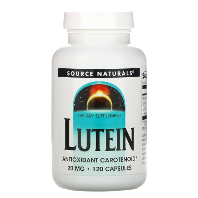 Source Naturals, Lutein, 20 mg, 120 Capsules