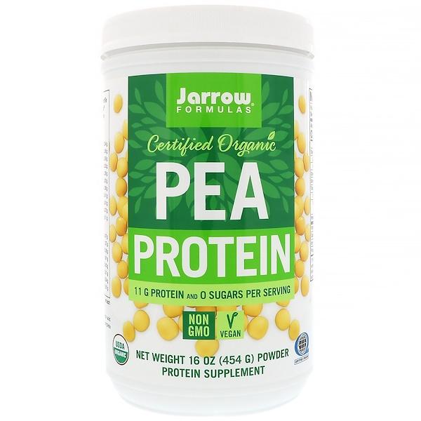Jarrow Formulas, Certified Organic Pea Protein, 16 oz (454 g)