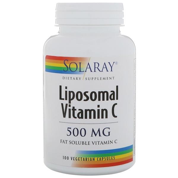 Solaray, Liposomal Vitamin C, 500 mg, 100 Vegetarian Capsules