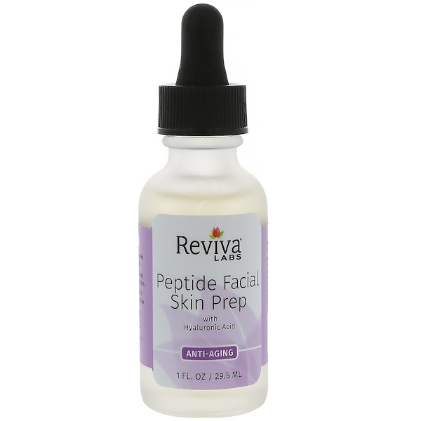 Reviva Labs, Peptide Facial Skin Prep With Hyaluronic Acid, Anti Aging, 1 fl oz (29.5 ml)