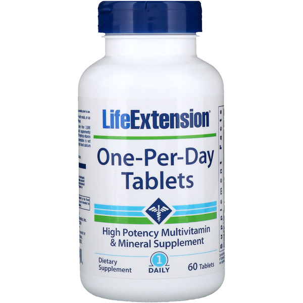 Life Extension, One-Per-Day Tablets, 60 Tablets