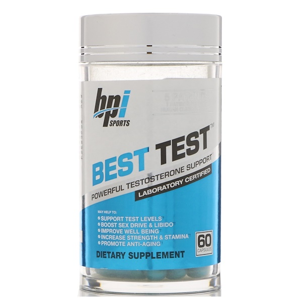 BPI Sports, Best Test, Powerful Testosterone Support, 60 Capsules