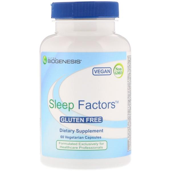 Nutra BioGenesis, Sleep Factors, 60 Vegetarian Capsules