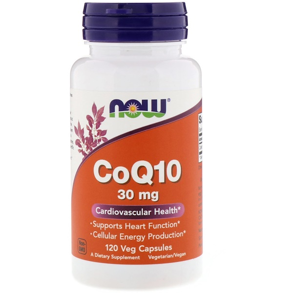 Now Foods, CoQ10, 30 mg, 120 Veg Capsules