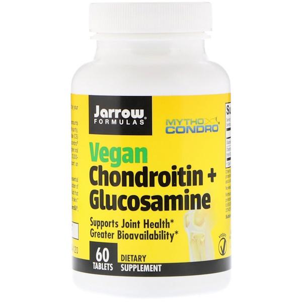 Jarrow Formulas, Vegan Chondroitin + Glucosamine, 60 Tablets
