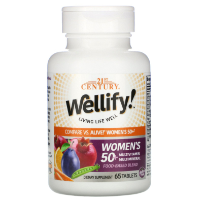 21st Century, Wellify Women's 50+ Multivitamin Multimineral, 65 Tablets