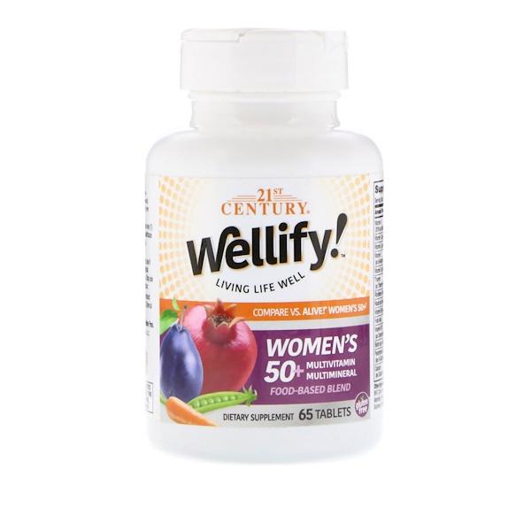 21st Century, Wellify Women's 50+ Multivitamin Multimineral, 65 Tablets