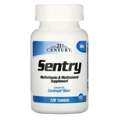 21st Century, Sentry Men, Multivitamin & Multimineral Supplement, 120 Tablets