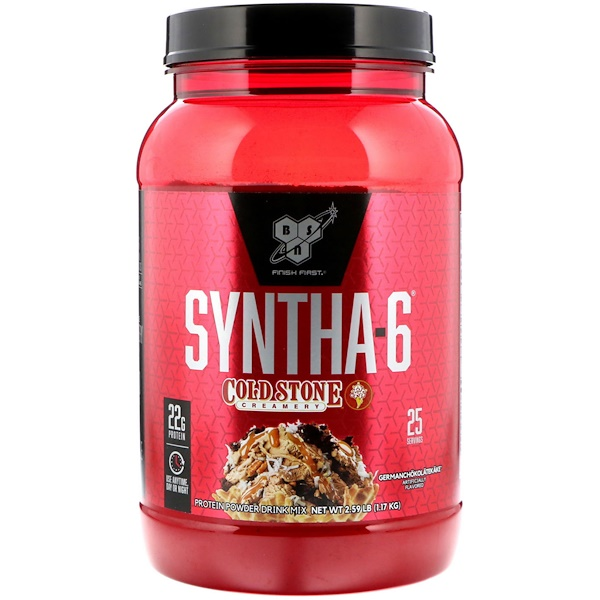 BSN, Syntha-6, Cold Stone Creamery, Germanchokolatekake, 2.59 lb (1.17 kg)