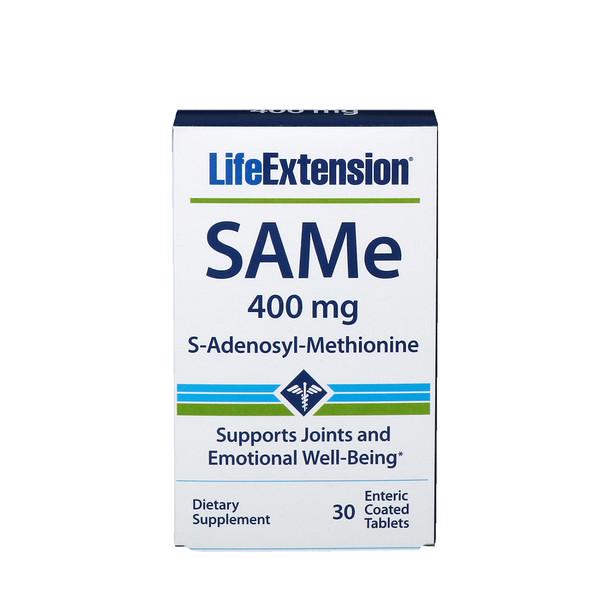 Life Extension, SAMe, S-Adenosyl-Methionine, 400 mg, 30 Enteric Coated Tablets