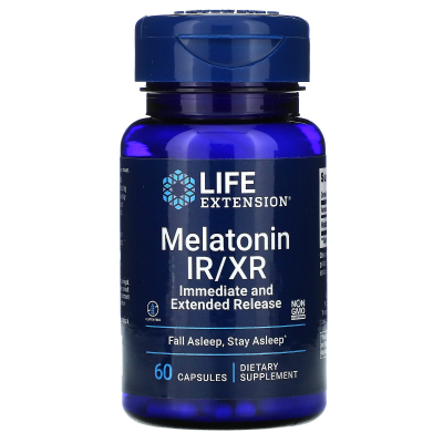 Life Extension, Melatonin IR/XR, 60 Capsules