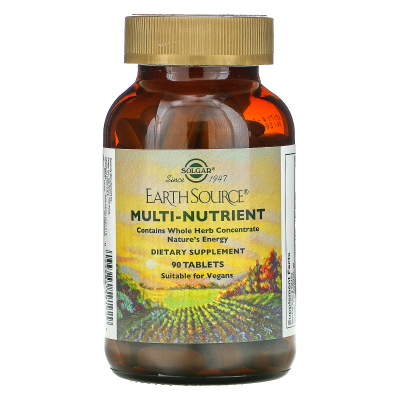 Solgar, Earth Source, Multi-Nutrient, Providing Whole Food Concentrates, 90 Tablets