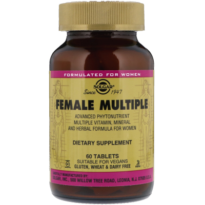 Solgar, Female Multiple, 60 Tablets