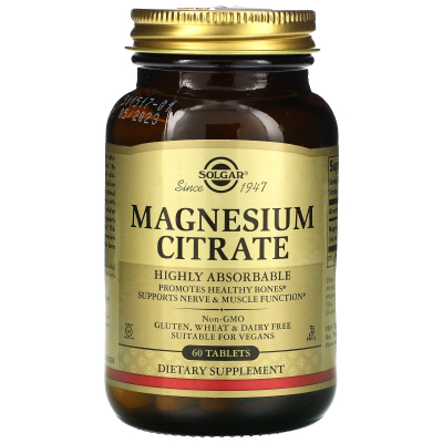 Solgar, Magnesium Citrate, 60 Tablets