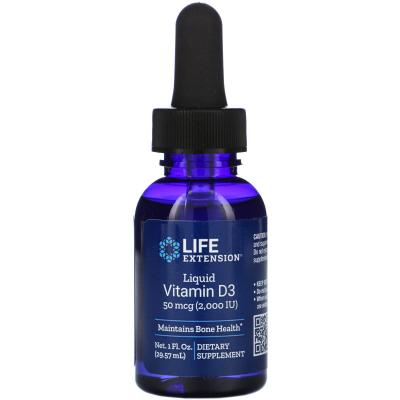 Life Extension, Liquid Vitamin D3, 2000 IU, 1 fl oz (29.57 ml)