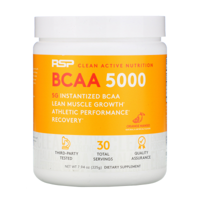 RSP Nutrition, BCAA 5000, Orange Mango, 5,000 mg, 7.94 oz (225 g)