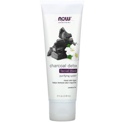 Now Foods, Solutions, Charcoal Detox Facial Mask, 4 fl oz (118 ml)