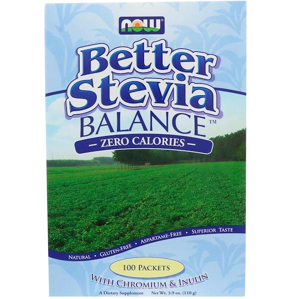Now Foods, Better Stevia, Balance, 100 Packets, (1.1 g) Each
