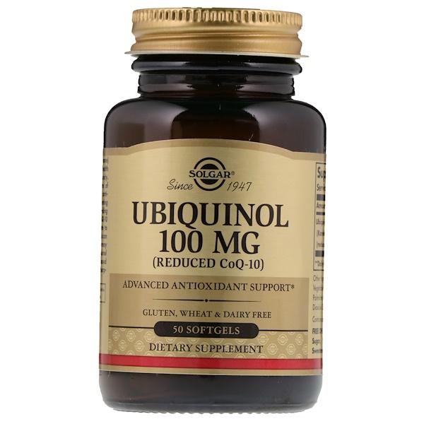 Solgar, Ubiquinol (Reduced CoQ10), 100 mg, 50 Softgels