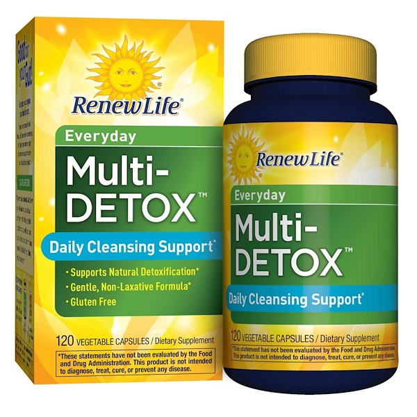 Renew Life, Daily Multi-Detox, 120 Veggie Caps