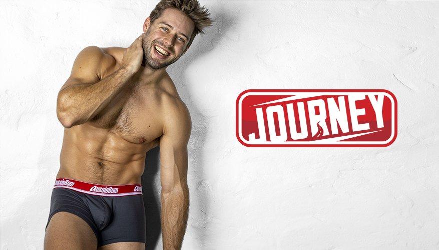 aussieBum Underwear, Journey, Charcoal Grey Trunk