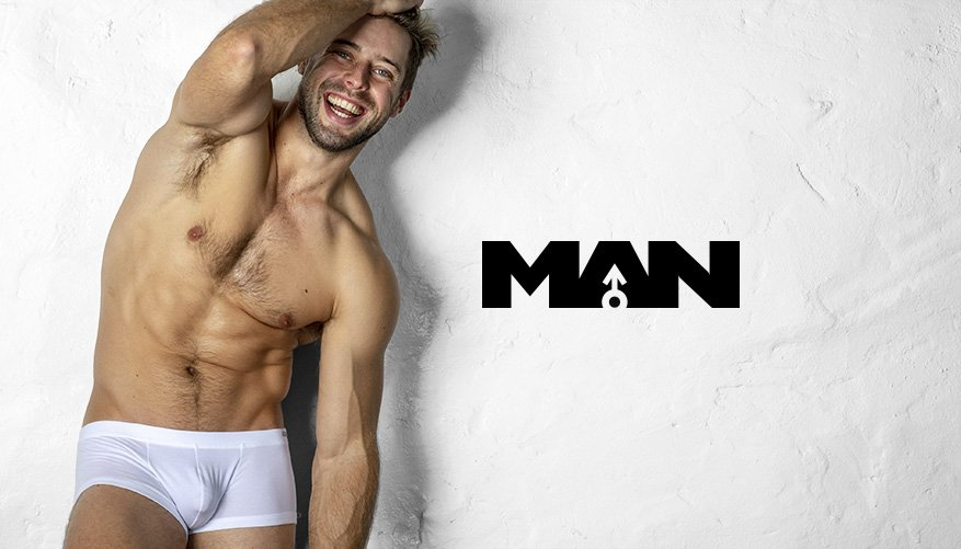 aussieBum Underwear, Man, White Trunk