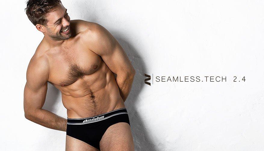 aussieBum Underwear Seamless.Tech 2.4 Black Brief