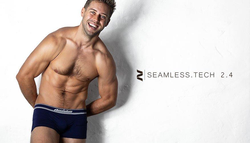 aussieBum Underwear Seamless.Tech 2.4 Navy Blue Trunk