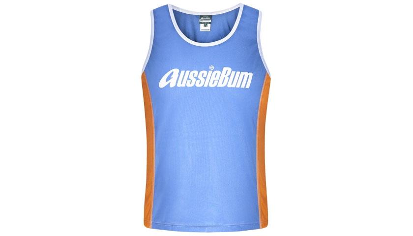 aussieBum Menswear, Nylon Singlet, Azure Blue Singlet