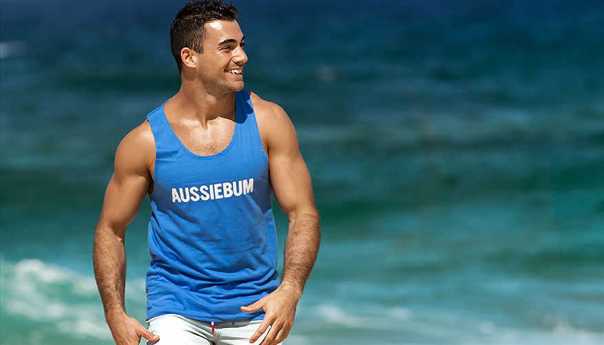 aussieBum Clothing, Classic Workout, Blue Singlet