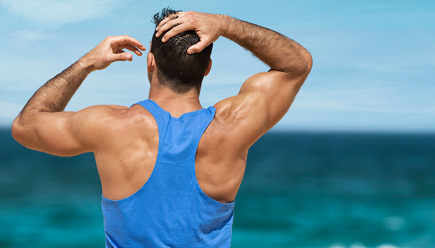 aussieBum Clothing, Classic Workout, Blue Singlet