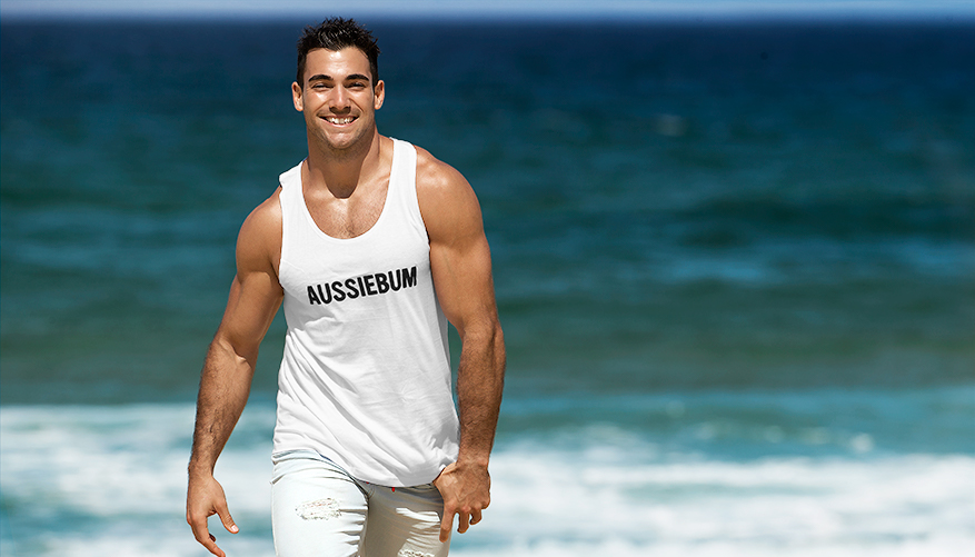 aussieBum Clothing, Classic Workout, White Singlet