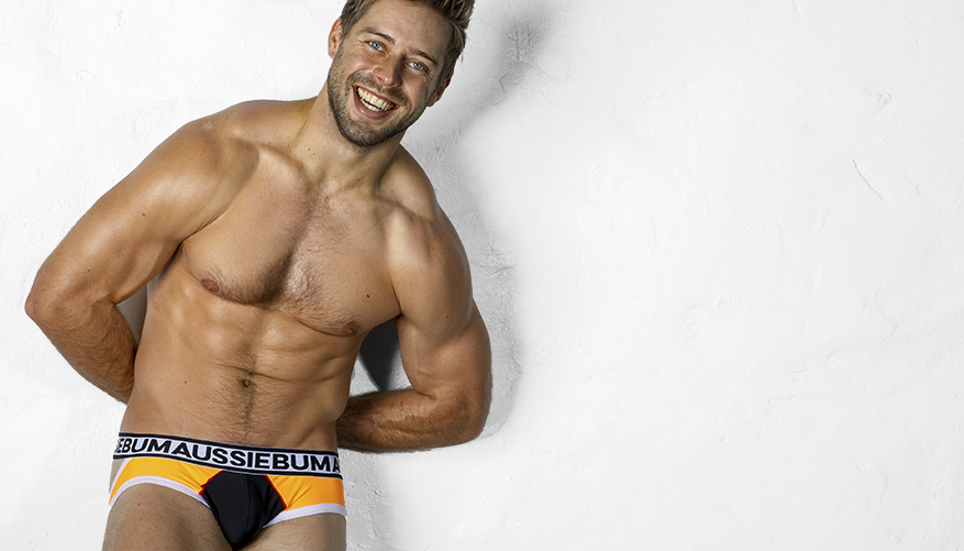 aussieBum Underwear Rhapsody Orange Jock