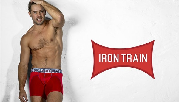 aussieBum Underwear, IronTrain, Red Trunk