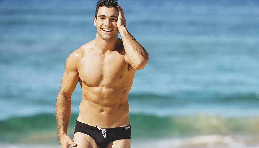 aussieBum Swimwear, Breaker, Black Brief