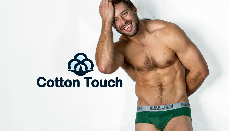 aussieBum Underwear, CottonTouch, Marle Green Brief